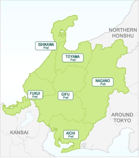 Japan Central Honshu Region Map Hotels In Japan Search Your - Japan map honshu